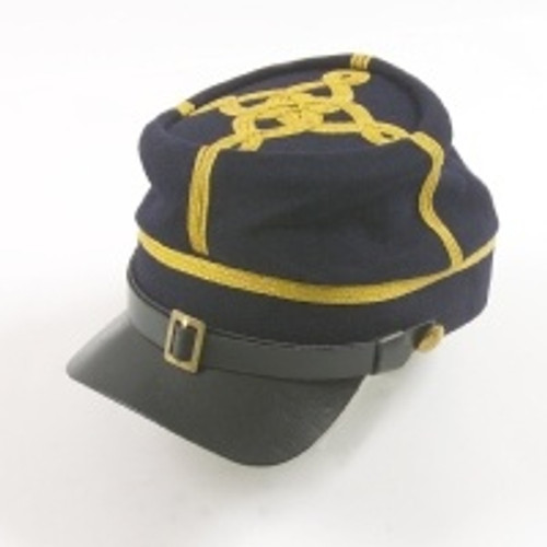 Civil War Kepi - U.S. Officer's Deluxe Blue w/Braid