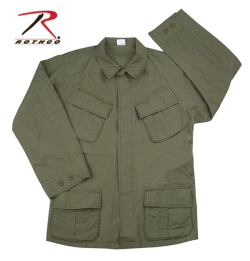 Vintage Vietnam Fatigue Shirt Rip-Stop - Olive Drab