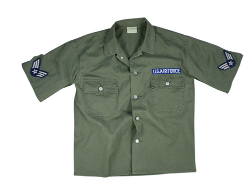 Vintage Army Air Force S/S BDU Shirt - Olive Drab