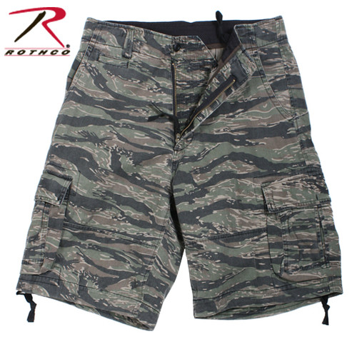Vintage Infantry Utility Shorts -Tiger Stripe