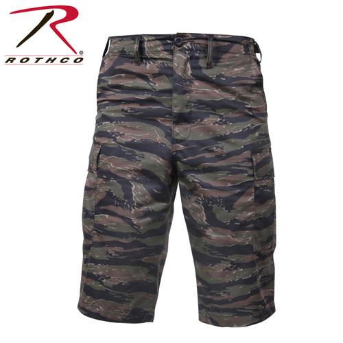 Military BDU Long Shorts - Tiger Stripe