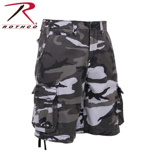 Vintage Infantry Utility Shorts - Urban Camo