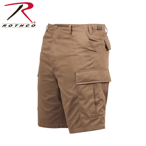 Military Cargo Shorts - Coyote Brown