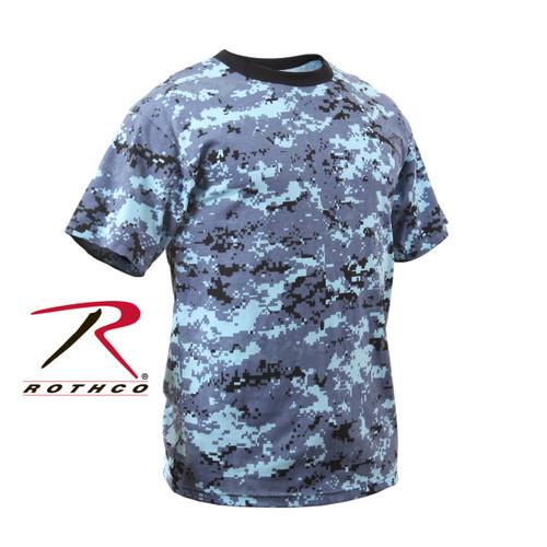 Junior G.I. Camo T-Shirt - Sky Blue Digital Camo