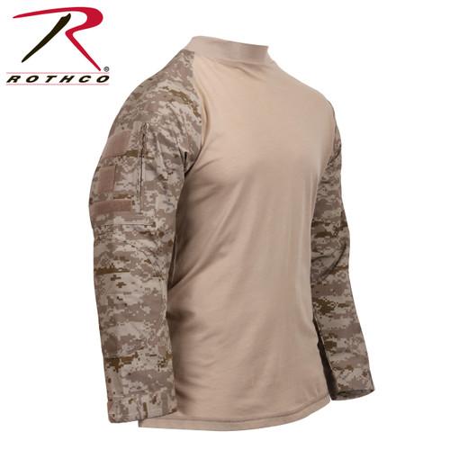 Tactical Airsoft Combat Shirt - Desert Digital Camo