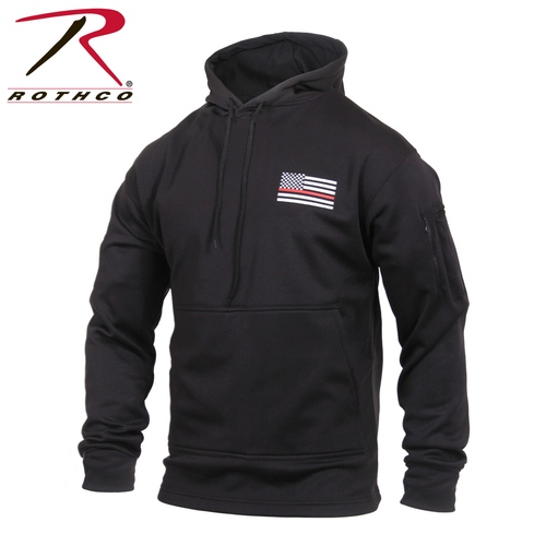 Rothco Thin Red Line Concealed Carry Hoodie - Black