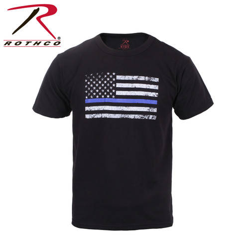 Kids Thin Blue Line US Flag T-Shirt