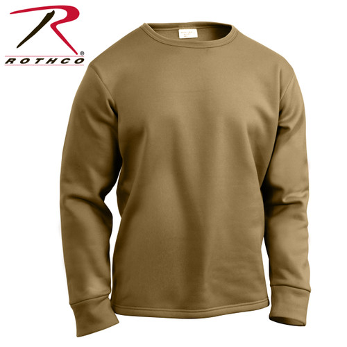 Rothco ECWCS Poly Crew Neck Top - AR 670-1 Coyote