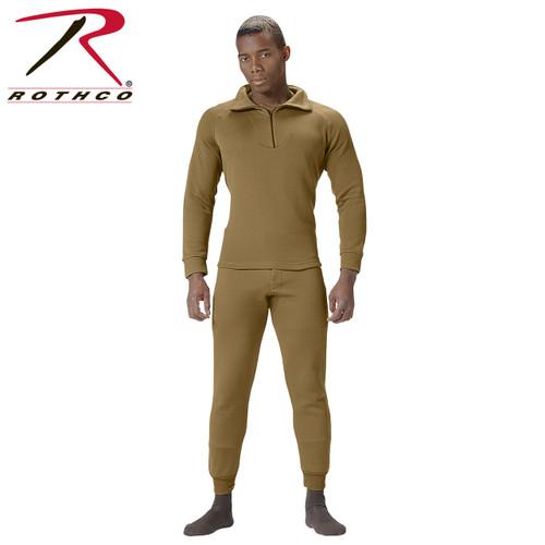 Rothco ECWCS Poly Zip Collar Shirt - AR 670-1 Coyote