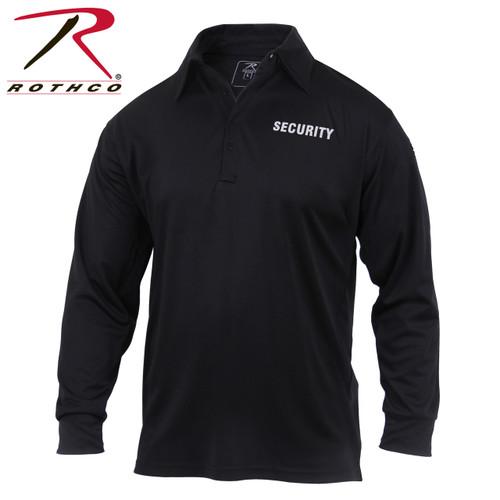 Moisture Wicking Long Sleeve Security Polo