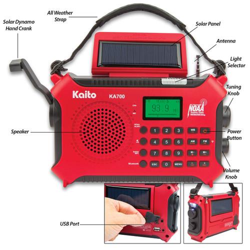 Kaito Emergency Solar Radio And Music Machine