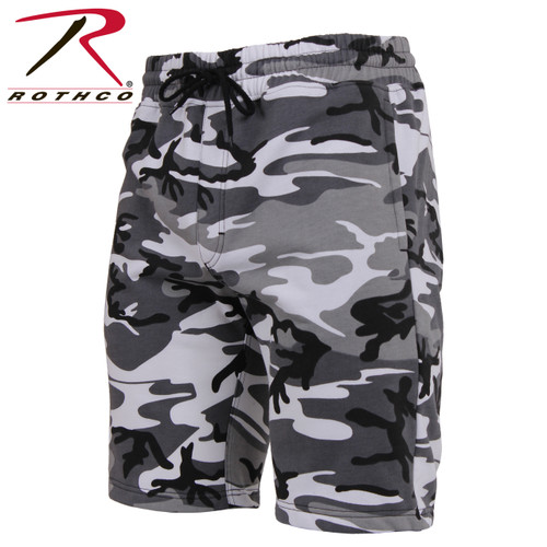 Rothco Camo Sweat Shorts - City Camo