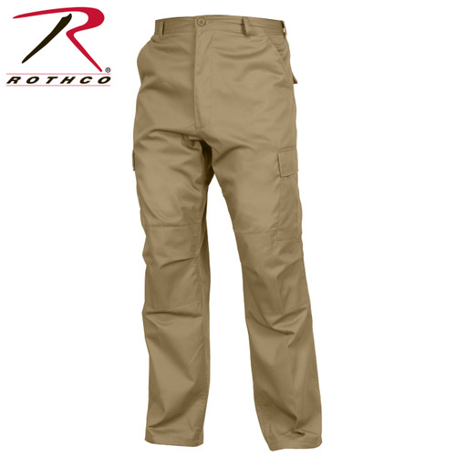 Rothco Relaxed Fit Zipper Fly BDU Pants - Khaki