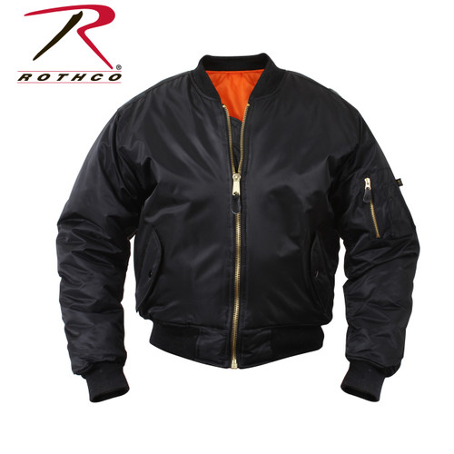 Rothco Concealed Carry MA-1 Flight Jacket - Black