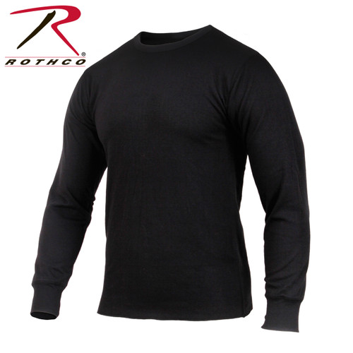 Rothco Midweight Thermal Knit Top - Black