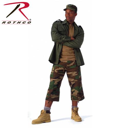 Rothco 6-Pocket BDU 3/4 Pants - Woodland Camo