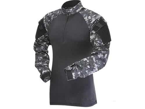 TruSpec Men's T.R.U. 1/4 Zip Combat Shirt (Color: Urban Digital / Small - Regular)