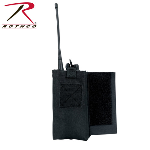 Rothco LACV Side Radio Pouch Set - Black