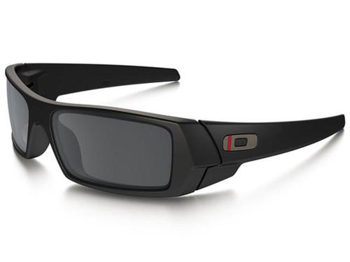 Oakley Gascan Sunglasses (Color: Matte Black / Black Iridium / Thin Red Line)