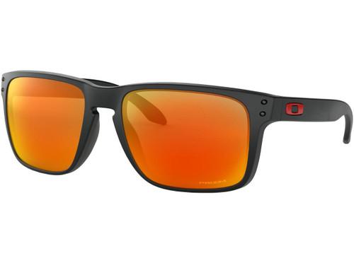 Oakley Holbrook XL Sunglasses (Color: Matte Black / PRIZM Ruby Lenses)