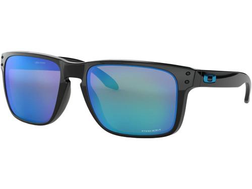 Oakley Holbrook XL Sunglasses (Color: Polished Black / PRIZM Sapphire Iridium Lenses)
