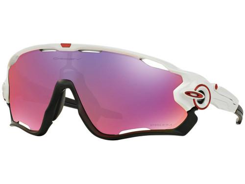 Oakley JawBreaker Sport Sunglasses (Color: Polished White / Prizm Road)