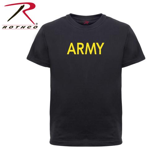 Rothco Kids Army Physical Training T-Shirt - Black