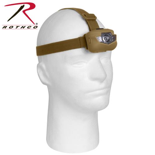 Rothco 5 Bulb LED Headlamp - Coyote Brown