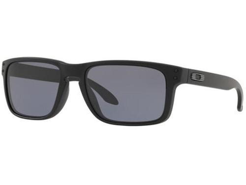 Oakley Holbrook Sunglasses (Color: Matte Black Flag Icon / Smoke Grey)