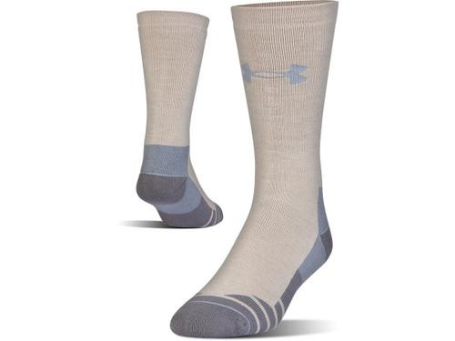 Under Armour Men's UA Hitch Heavy 3.0 Boot Sock (Color: Desert Sand - Steel / Large)