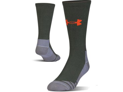 Under Armour Men's UA Hitch Lite 3.0 Boot Sock (Color: Combat Green - Volcano / Medium)