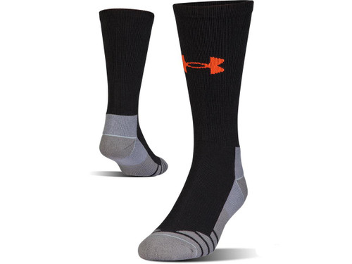 Under Armour Men's UA Hitch Lite 3.0 Boot Sock (Color: Black - Volcano / Large)
