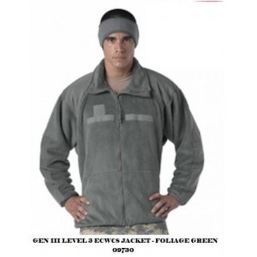 ECWCS Gen 3/Level 3 Polar Fleece Jacket/Liner - Foliage Green