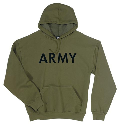 """Military Pullover Hooded Sweatshirt """"Army"""""""