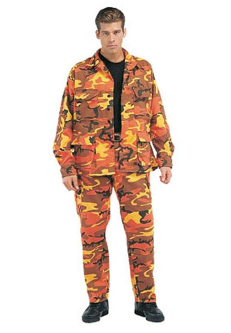 Rothco BDU Pants - Savage Orange Camo