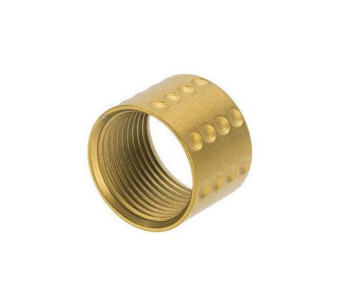 APS CNC Machined Aluminum 14mm Negative Thread Protector (Color: Gold / S-Type)