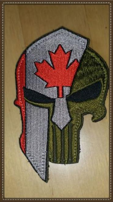 Spartan Punisher Canadian Flag Moral Patch