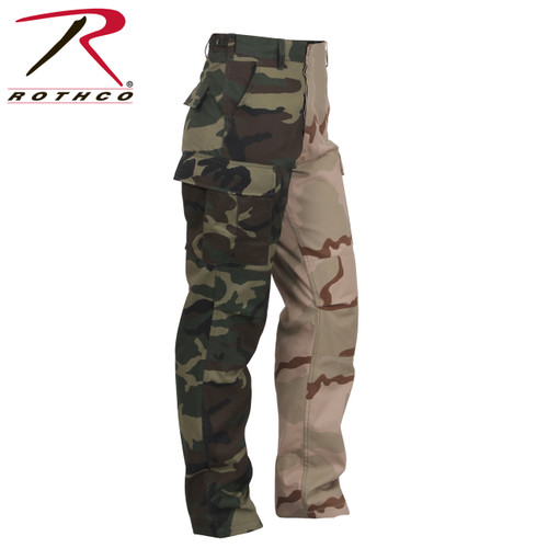 Rothco Two-Tone Camo BDU Pants - Woodland/Tri-Colour Desert