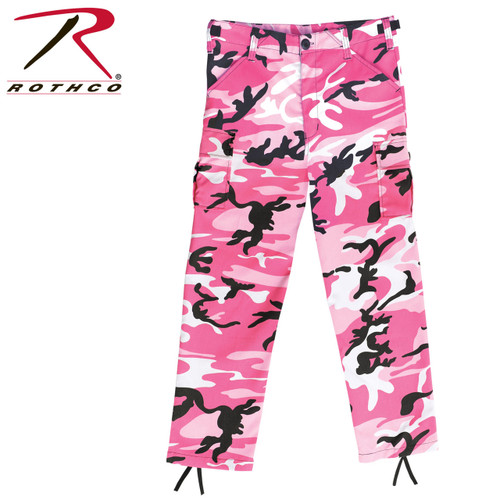 Rothco Kids BDU Pants - Pink Camo