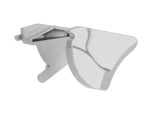 Nine Ball Custom Aluminum Alloy Shortened Safety Lever (Type: Lefty / Silver)