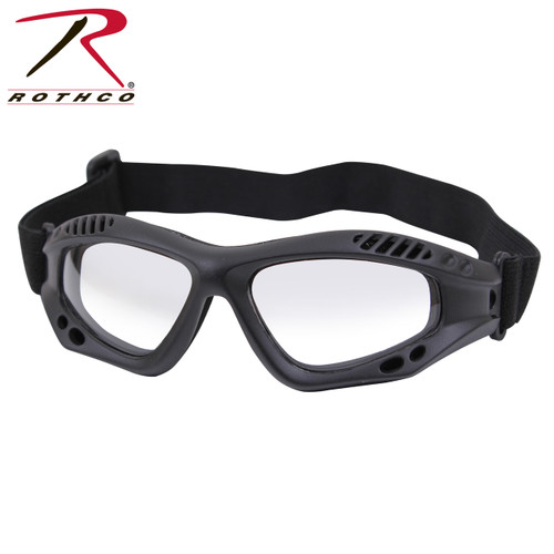 Rothco ANSI Rated Tactical Goggles - Black/Clear
