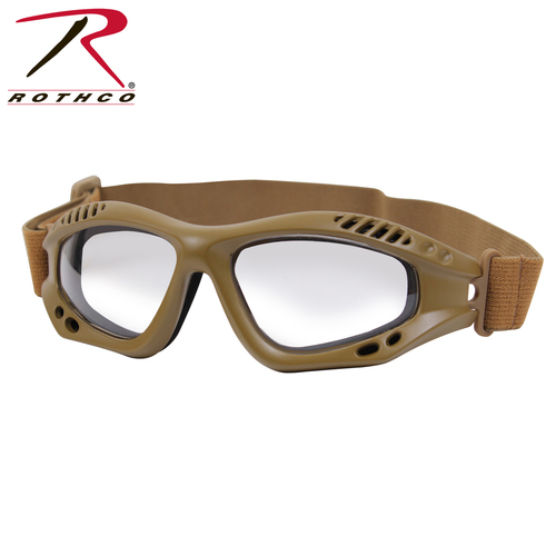 Rothco ANSI Rated Tactical Goggles - Coyote/Clear