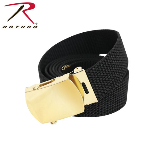 "Rothco Nylon Web Belt - 54"" Black Webbing"