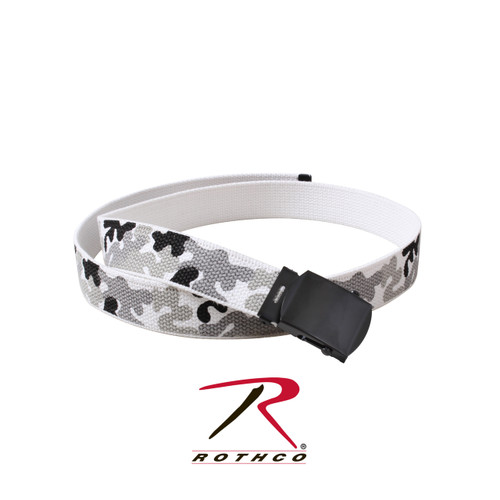 Rothco Camo Reversible Web Belt - City Camo/White