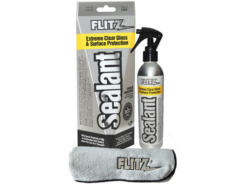 Flitz Extreme Clear Gloss & Surface Sealant / Protectant (Size: 8oz w/ Microfiber)