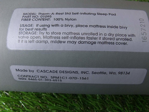 US Armed Forces Issue Thermarest