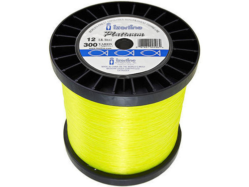 Izorline Platinum Co-Polymer Monofilament Fishing Line (Test: 50lb / 2400 Yards / Hi-Vis Yellow)