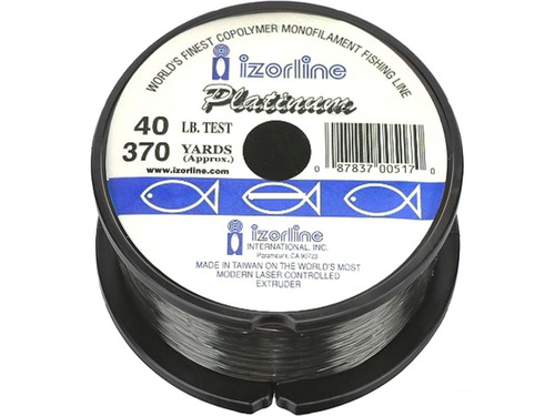 Izorline 005132 Platinum Co-Polymer Mono Line (Size: 40Lb Green 1/4Lb Bulk)
