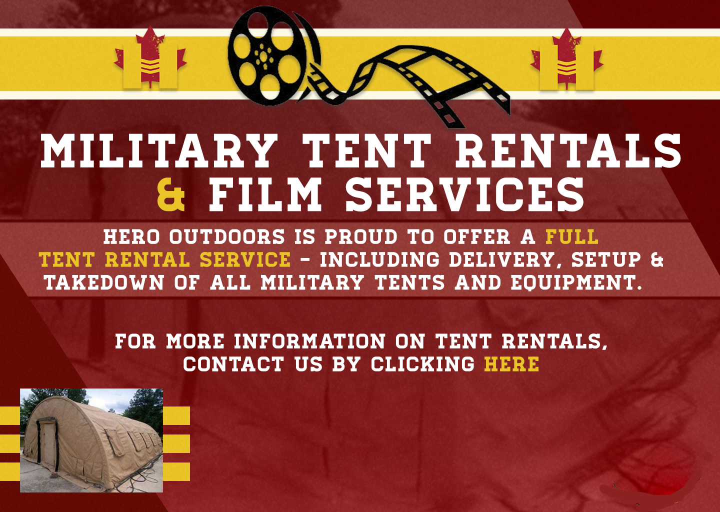 Military Tent Rentals and Film Services
