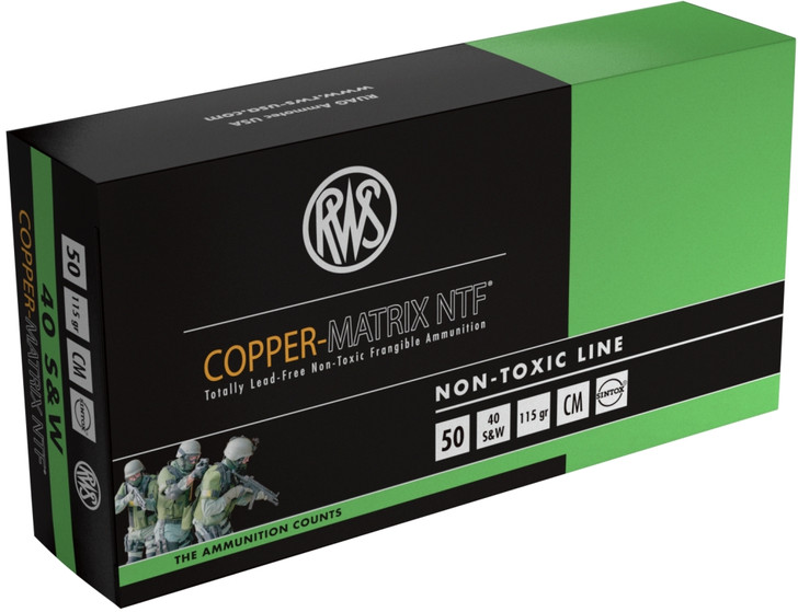COPPER MATRIX NTF 40S&W 115GR CM40 - 50 ROUNDS